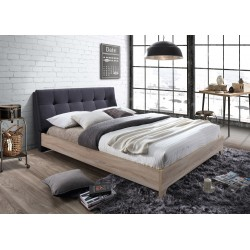 Grey Fabric & beech bed + matching  furniture set