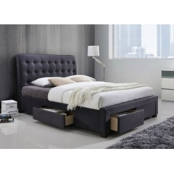 Gregham Dark Grey Fabric bed
