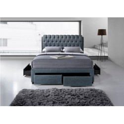 Buckingham bed Jermaine Dark Grey 4 drawer bed