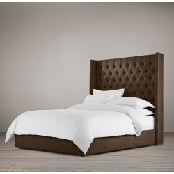 Towering Wingback Headboard bed