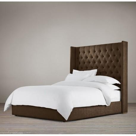 Towering Wingback Headboard bed