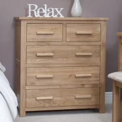 Opus 2 + 3 Oak Drawer chest