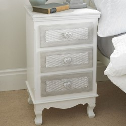 Bethany Hand Painted 3 Drawer Bedside Cabine