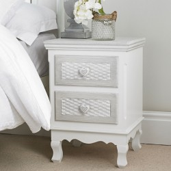 Bethany Hand Painted 2 Drawer Bedside Cabine
